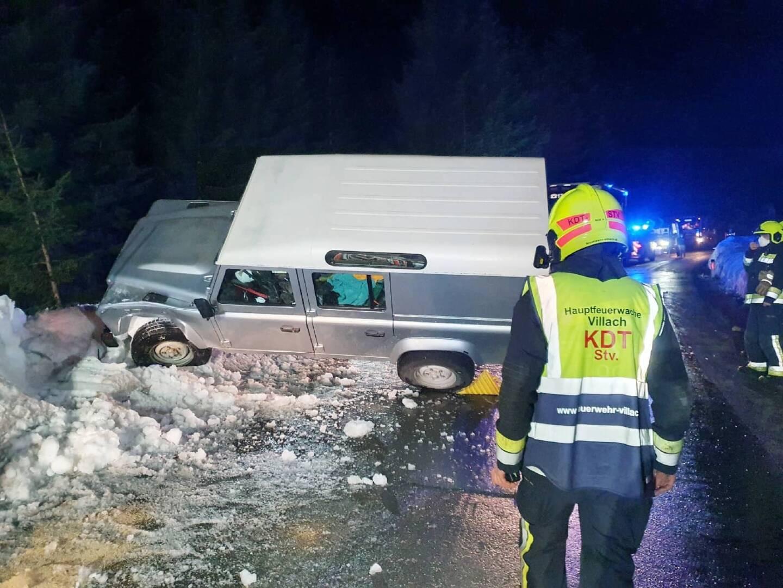 Verkehrsunfall auf der Villacher Alpenstraße