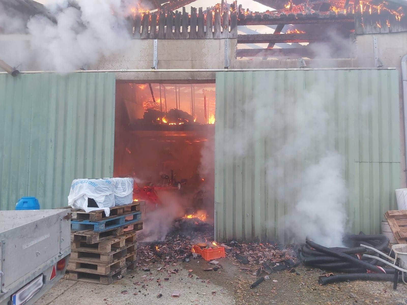 Wirtschaftsgebäudebrand in Zöbing an der Raab