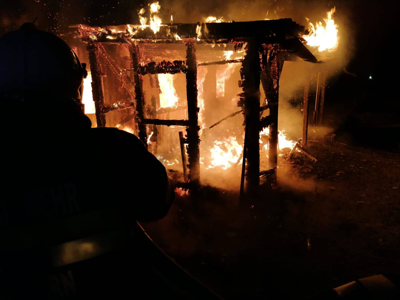 Hüttenbrand in Öblarn Ortsteil Bach