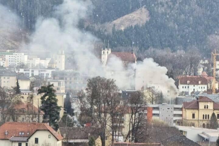 Brand im Fachmarktzentrum