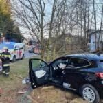 Schwerer Verkehrsunfall mit verletzter Person