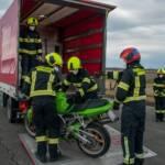 Motorradbergung nach Verkehrsunfall