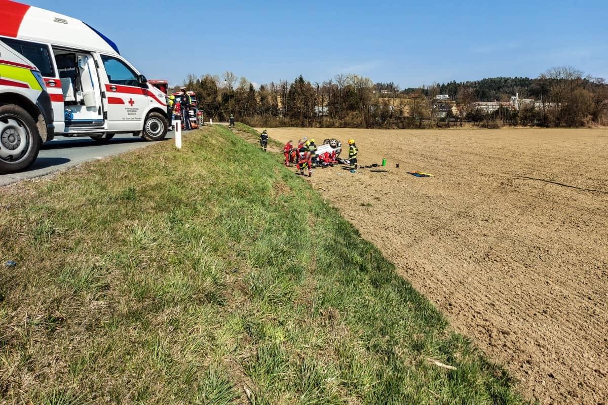 Verkehrsunfall in Frauental