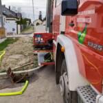 Pumparbeiten nach Wassergebrechen
