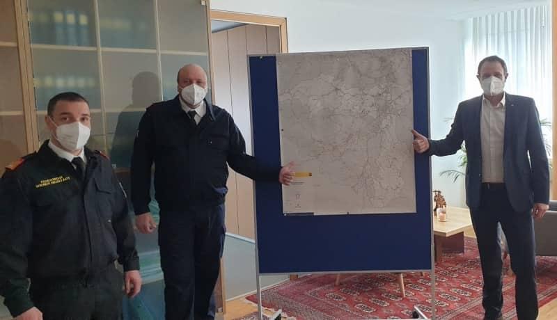 Antrittsbesuch des Bezirkskommandos beim Bezirkshauptmann Wiener Neustadt