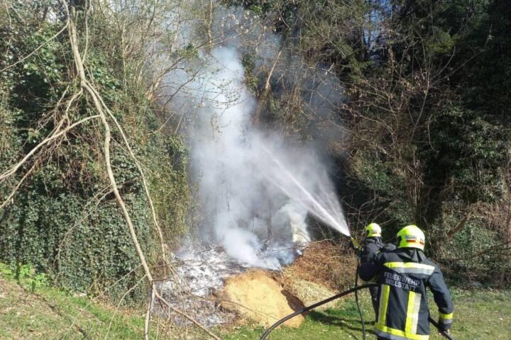 Wiesenbrand im Ortsgebiet