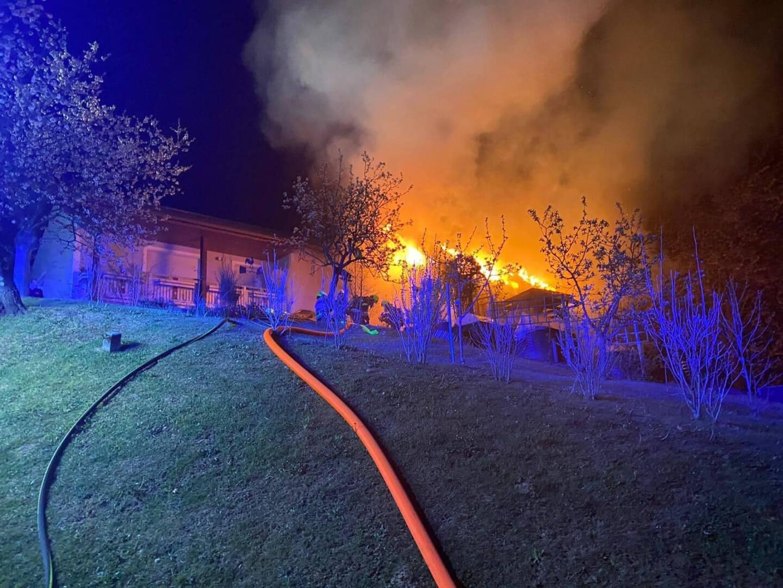Nebengebäudebrand in Bad Gams