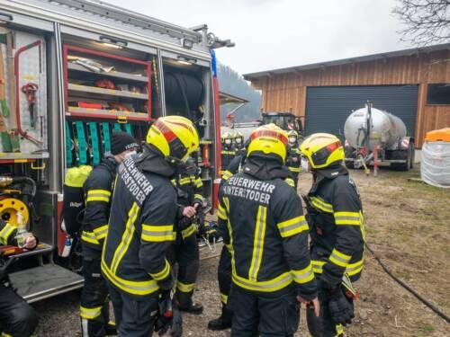 FF Hinterstoder: Brand eines Wohnhauses