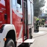 Polizei und Feuerwehr löschten Müllbehälterbrand