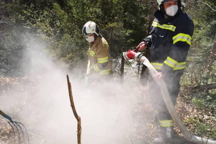 Fischaufseher bemerkt Brand in Hinterstein