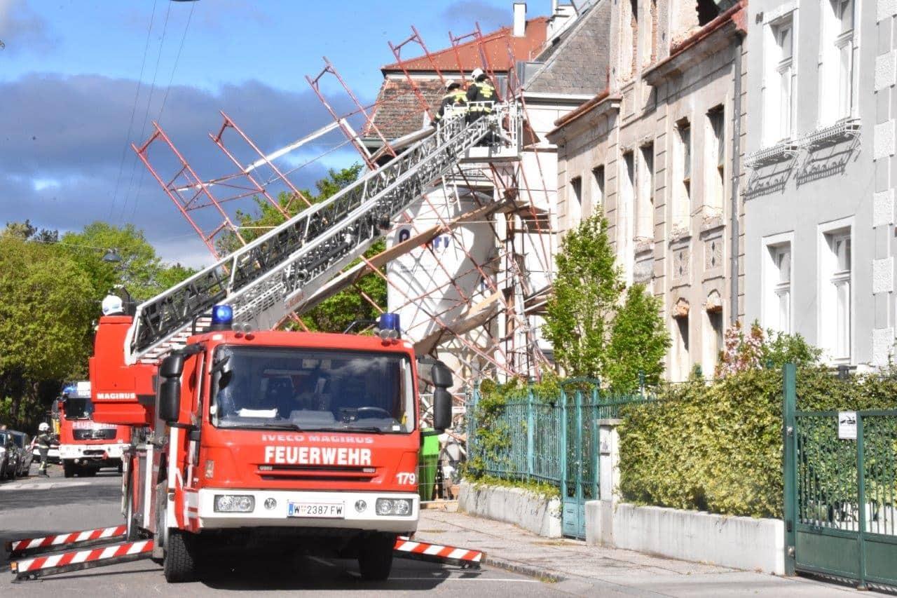 Zahlreiche Sturmeinsätze für die Wiener Berufsfeuerwehr