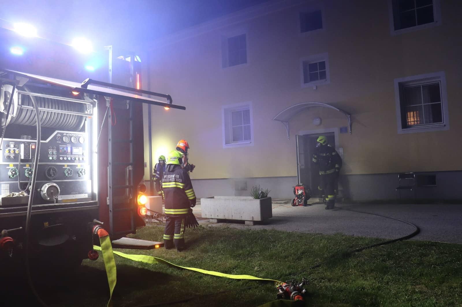 Kellerbrand in Ternitz