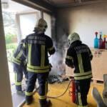 Kleinbrand in Einfamilienhaus