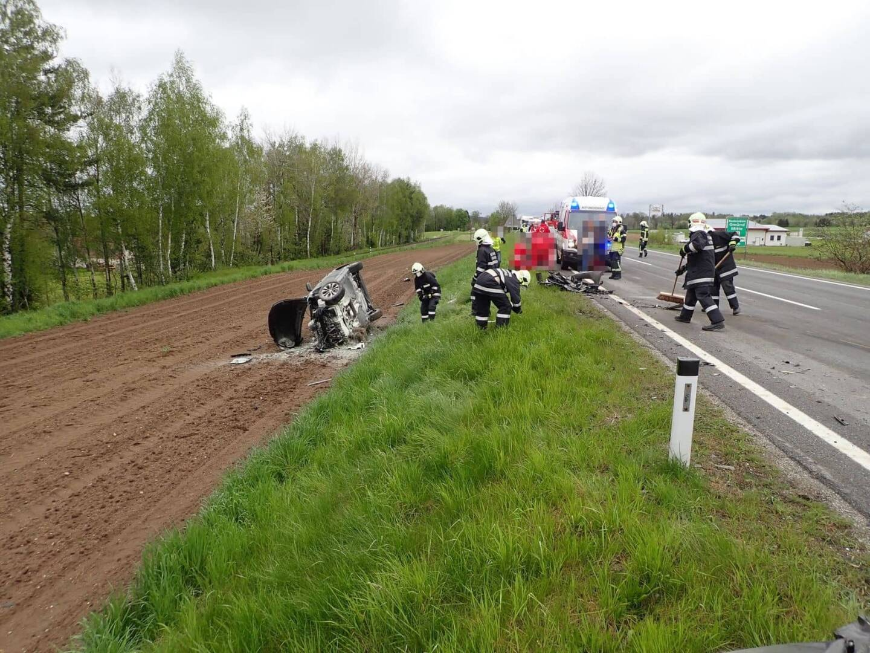 Fahrzeugbrand nach Verkehrsunfall