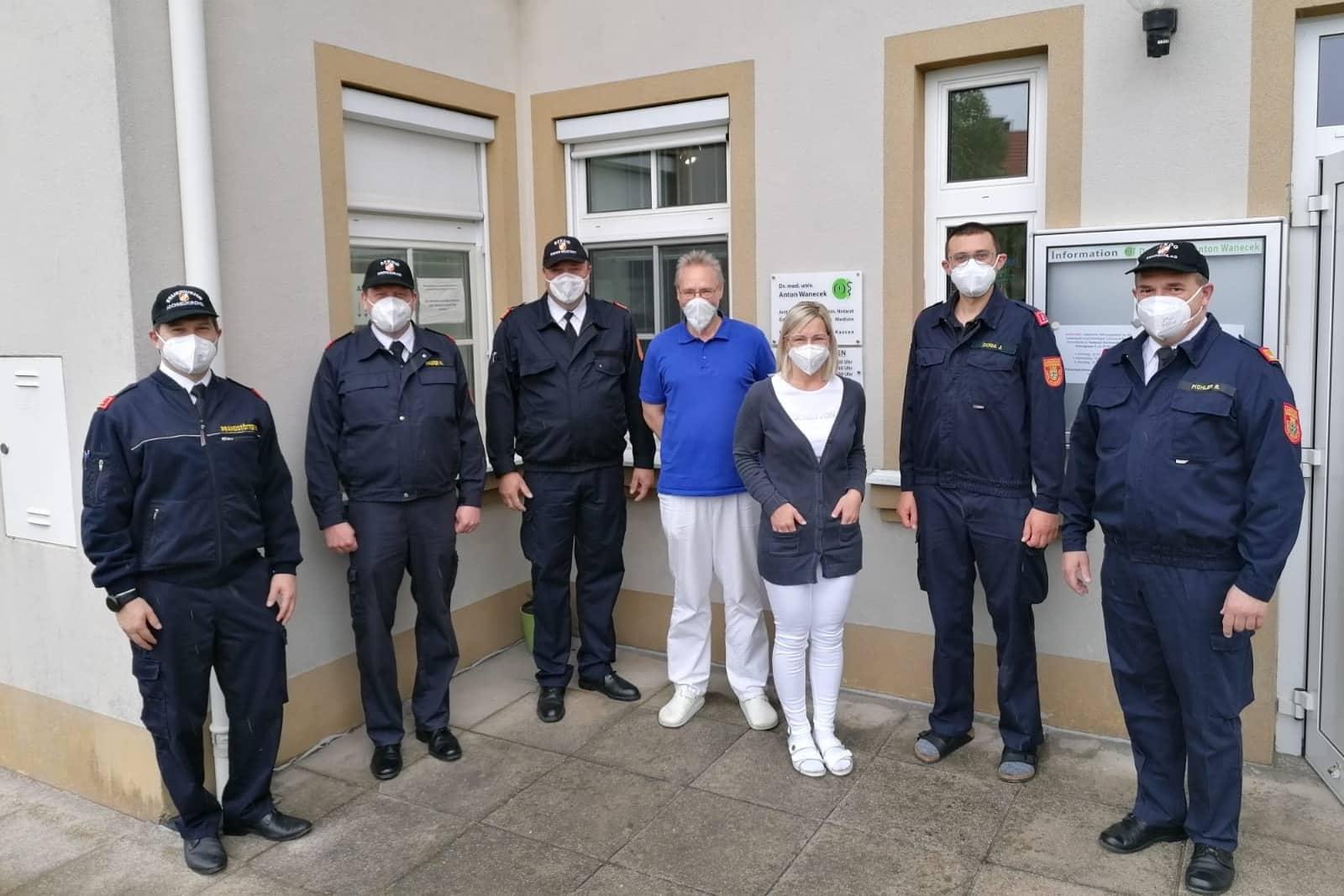 160 Feuerwehrmitglieder gegen COVID 19 geimpft