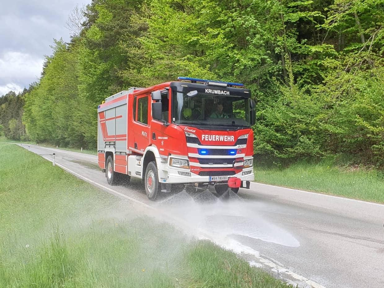 Schadstoffeinsatz auf der L137 im Bereich Zöberau