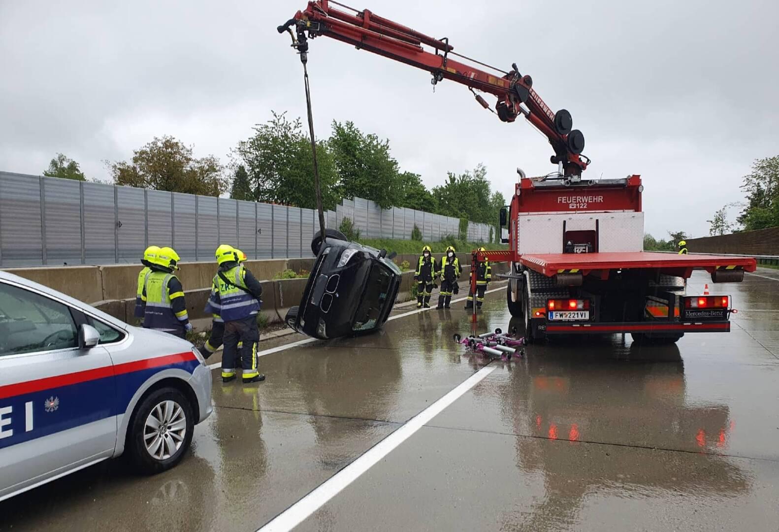 Verkehrsunfall auf der Südautobahn
