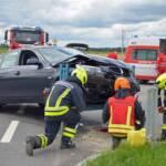 Verkehrsunfall auf der B5 bei Großeberharts