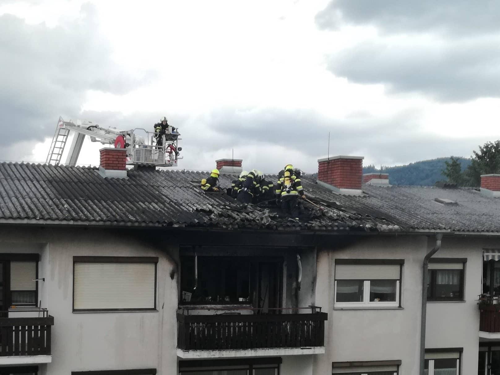 Brand in Mehrparteienhaus in Gratwein-Straßengel