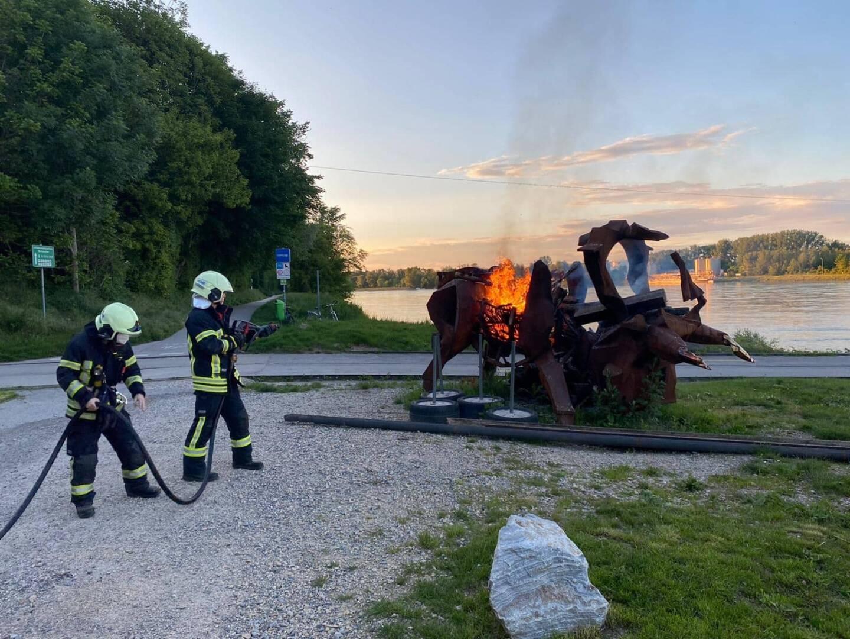 Brandeinsatz Rollfähre