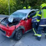 Verkehrsunfall mit Fahrzeugüberschlag