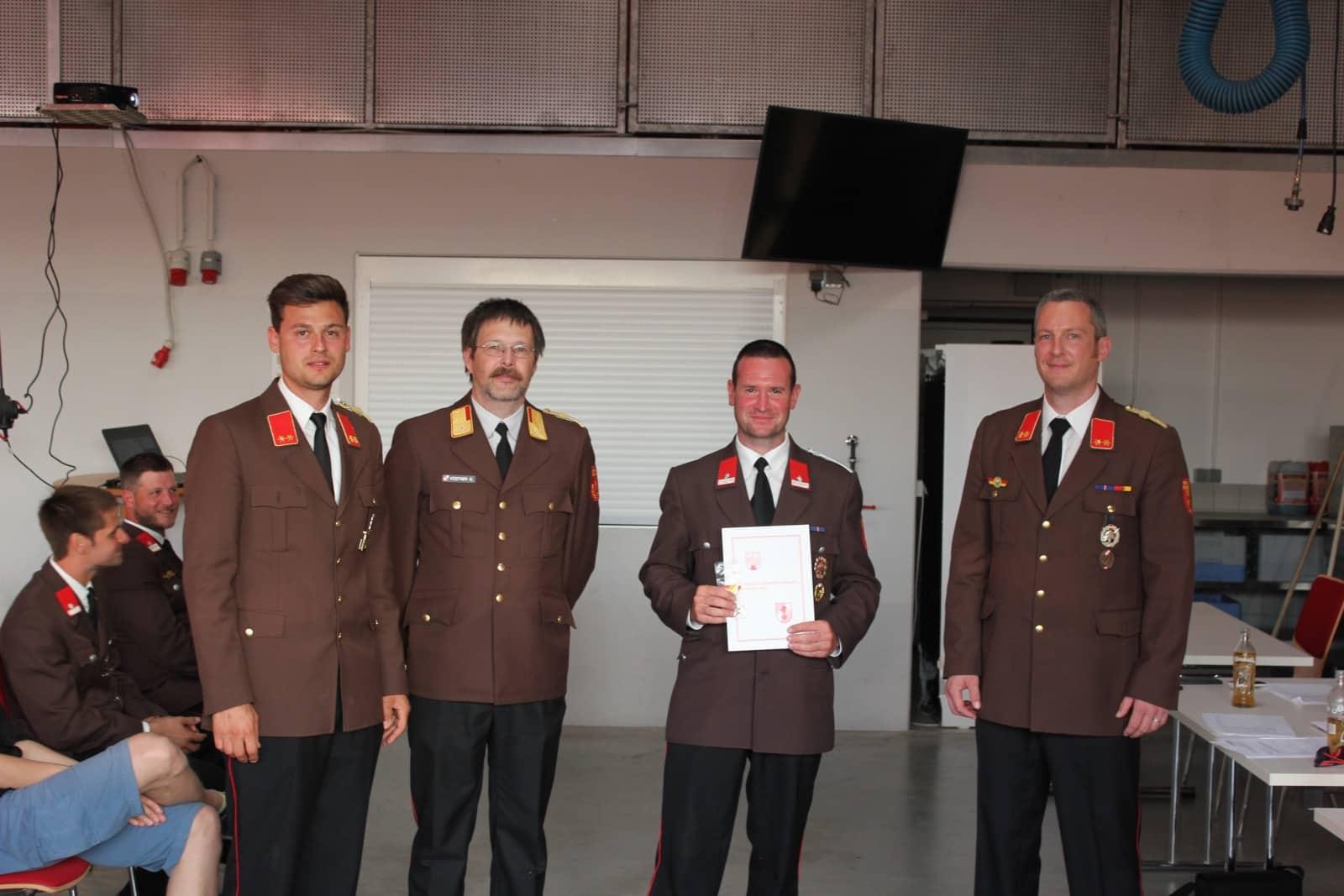 116. Jahreshauptversammlung der Feuerwehr