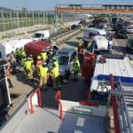 Verkehrsunfall mit Tierrettung auf der Südautobahn