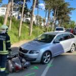 Verkehrsunfall PKW gegen Moped