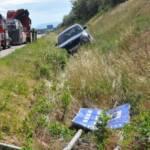Unfall mit Rettungsfahrzeug auf der A2