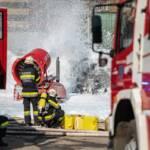 Großbrand bei Recyclingfirma in St. Michael