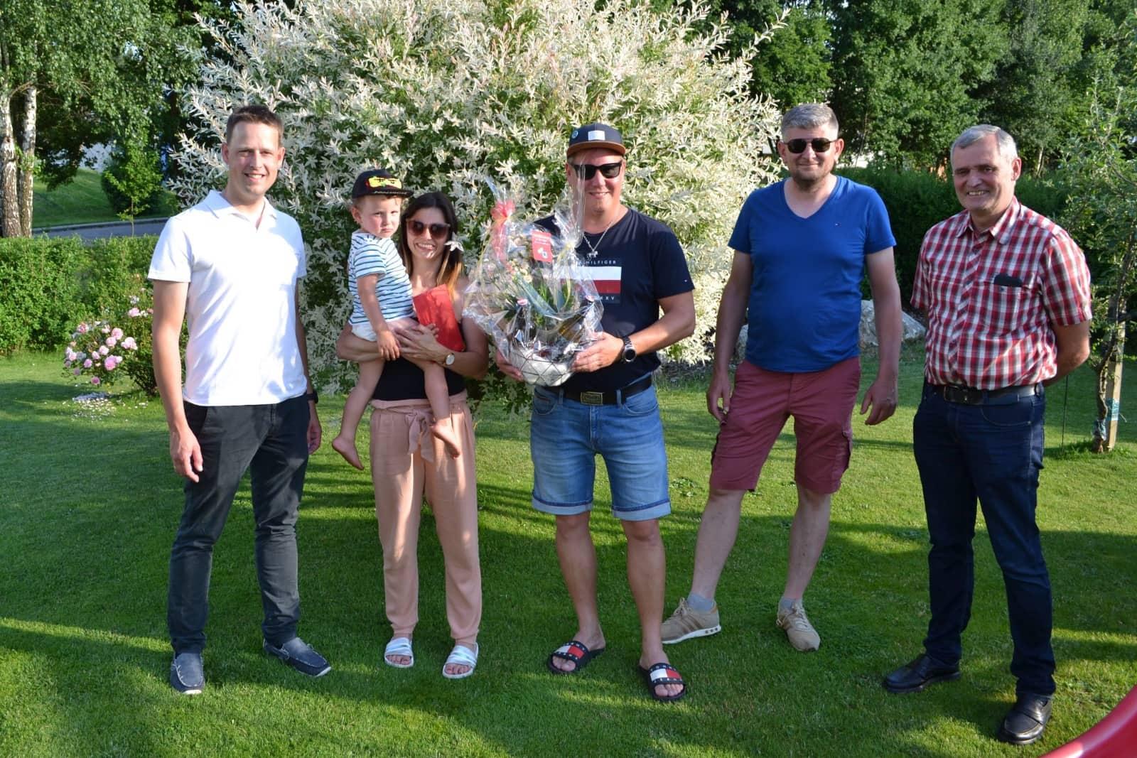 FF Althofen: Glückwünsche zur Hochzeit - Kerstin & Patrick