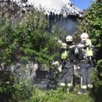 Gebäudebrand in einem Kleingartenverein