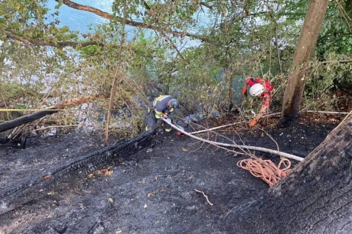 Waldbrand im Bereich der Drauschleife
