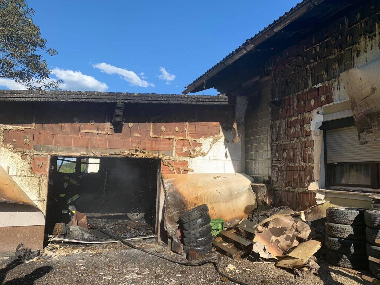 Garagenbrand in Globasnitz