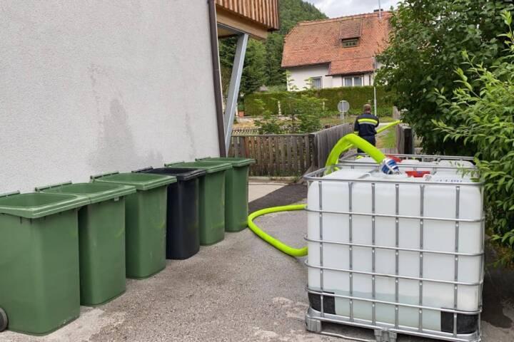Wörschach - Feuerwehr stellt Wasserversorgung sicher
