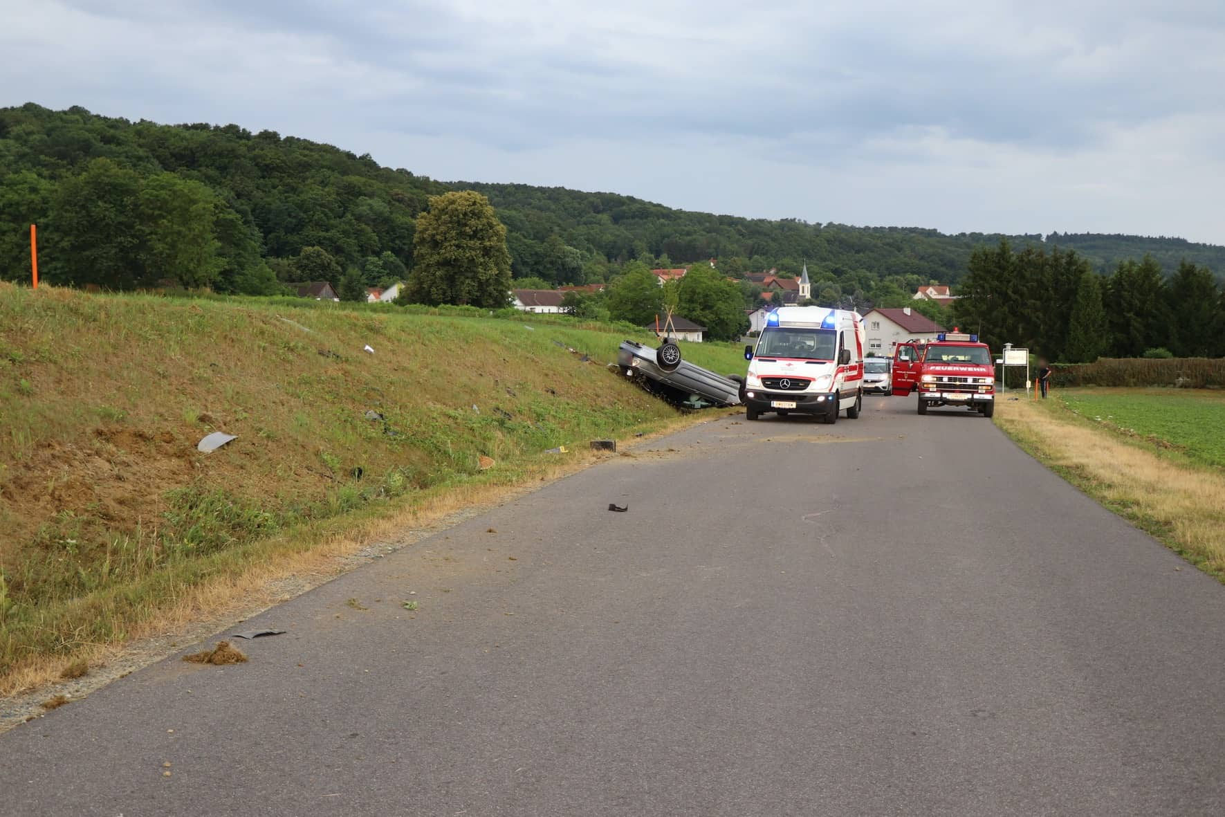 Schwerer Verkehrsunfall auf der L400 Glasing