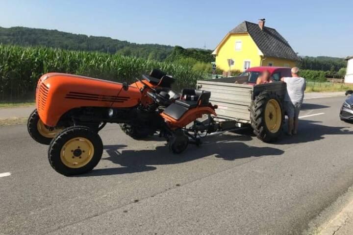 Technisches Gebrechen eines Traktors
