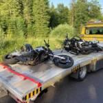 Zwei Motorräder im Weißenbachtal verunfallt