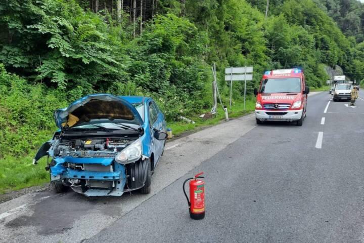 Erneut Verkehrsunfall auf der B145