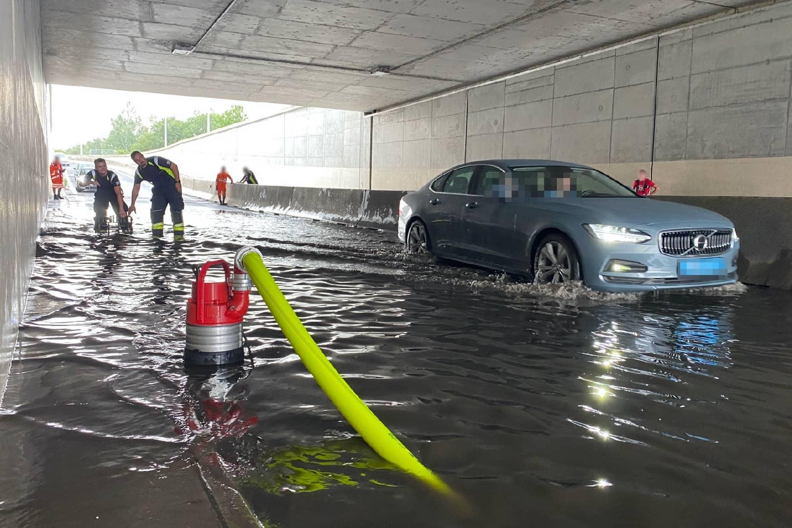 Starkregen sorgt für Einsätze