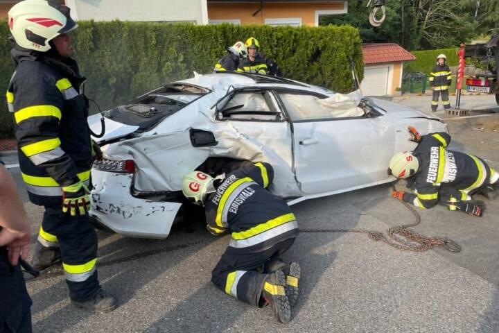 Verkehrsunfall auf der B69