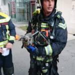 Zimmerbrand in Wien - Brigittenau