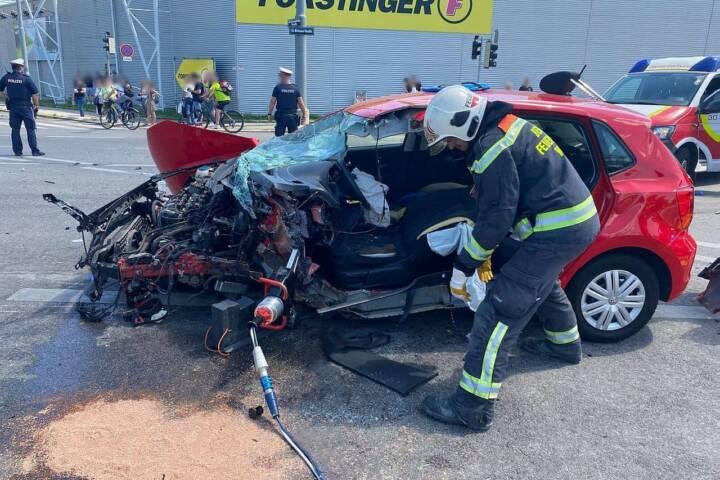 Verkehrsunfall in Wien - Floridsdorf