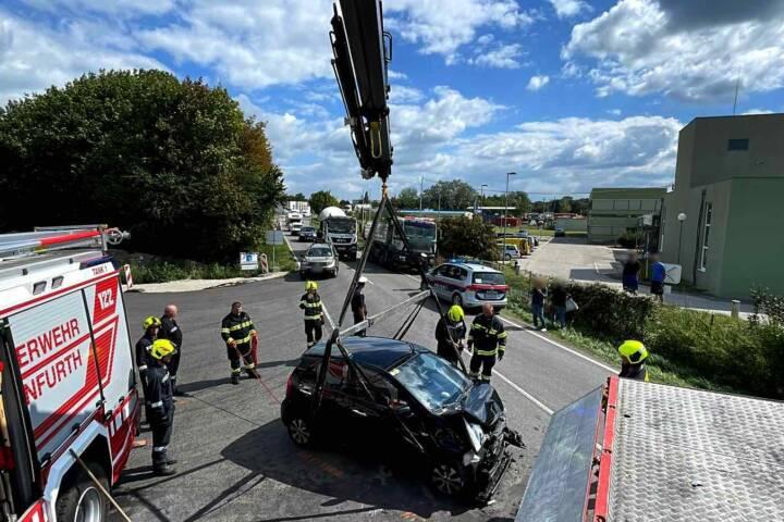 Verkehrsunfall im Baustellenbereich
