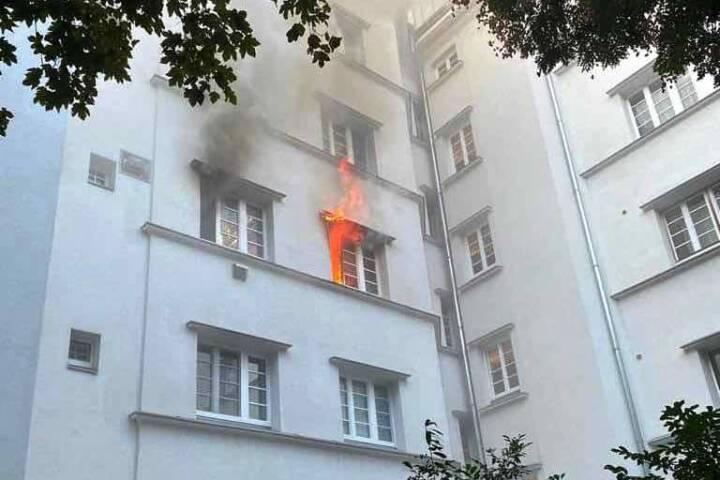 Offener Zimmerbrand in Wien-Landstraße