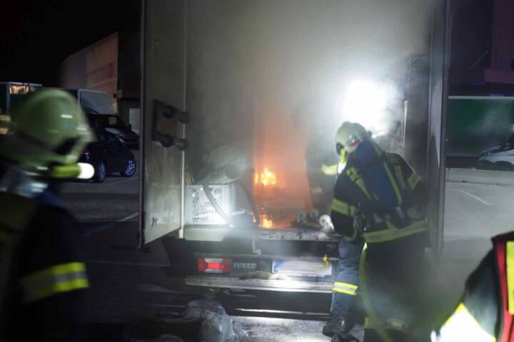 LKW Brand im Industriezentrum-Süd